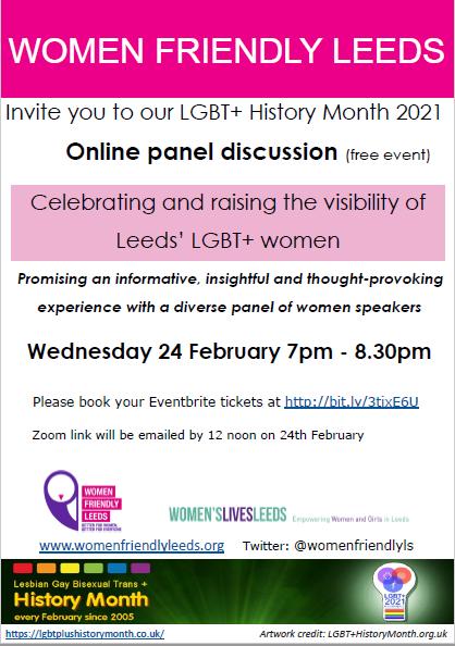 Women Friendly Leeds LGBTQ+ Panel Discussion Event